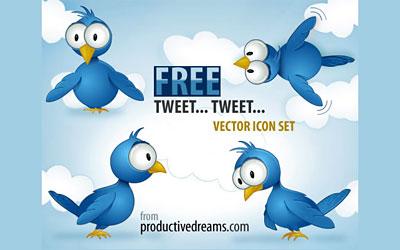 Скачать It's Twitter Time! Free Vector Icon Set