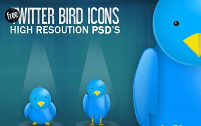 Скачать High Resolution Twitter Bird Icons