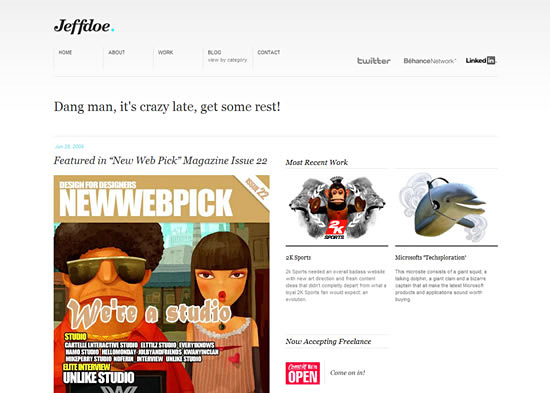 Перейти на Jeff doe design wordpress