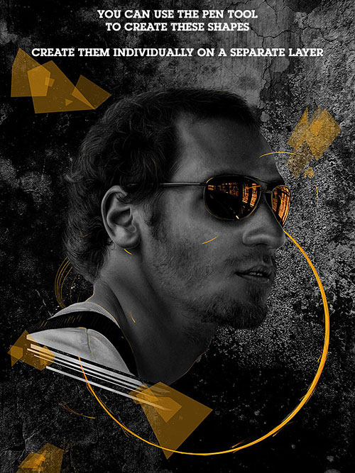 Создаем темный сюрреалистичный постер из собственного портрета