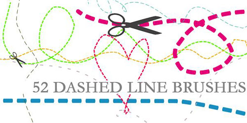 Скачать Dashed Line Brushes by ~Aless1984