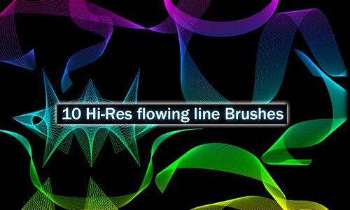 Скачать Hi-res Flowing Line Brushes by ~JPeiro