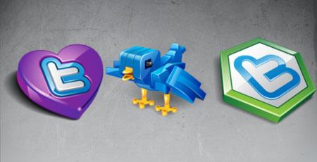 Скачать Twitter vector icons massive icon set