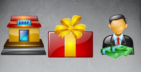 Скачать Brilliant shopping icons