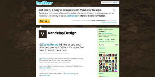Перейти на @VandelayDesign