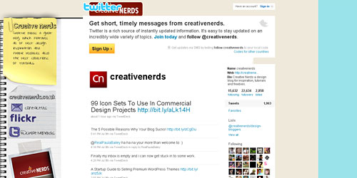 Перейти на @creativenerds