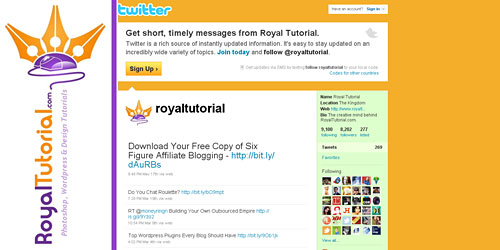 Перейти на @royaltutorial