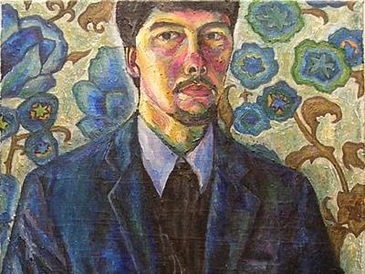 Рудых Денис. Автопортрет в синем пиджаке