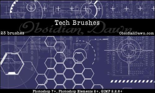 Скачать Tech Brushes