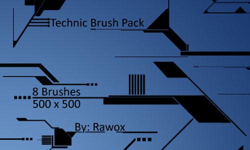 Скачать Tech Brush Pack