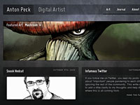 20 креативных примеров сайтов, выполненных в темной цветовой гамме