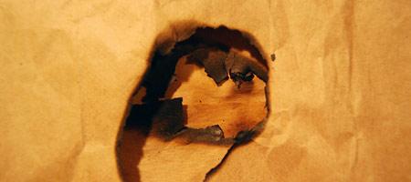Скачать Текстуру обгоревшей бумаги 8