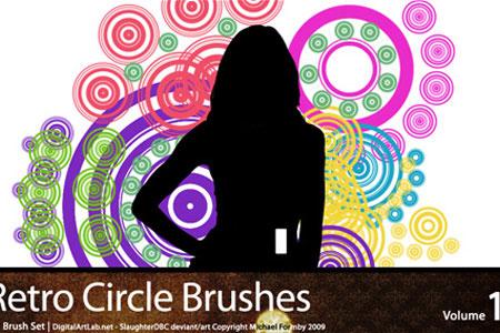 Скачать Retro Circles Brushes