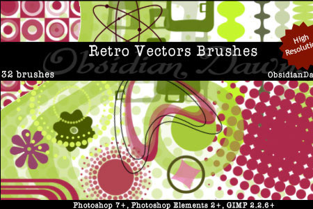 Скачать Retro Vectors Brushes