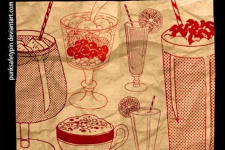 Скачать Brush Set 16 Retro Drinks