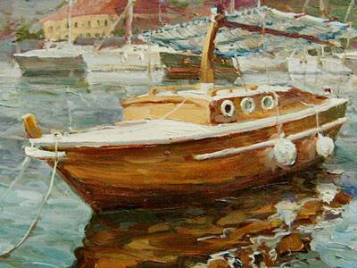 Галимов Азат. Лодочка в Которском заливе