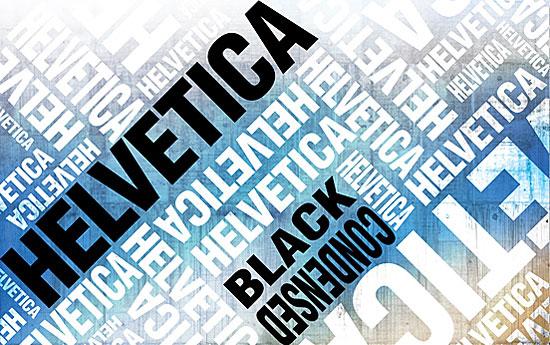 Перейти на Helvetica poster Blue
