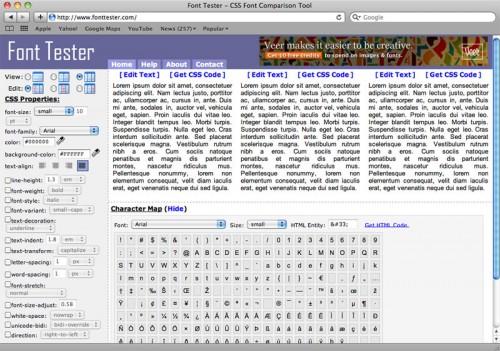 Перейти на Font Tester