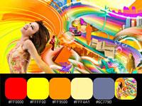 20 готовых цветовых палитр с радужных работ дизайнера Neil Duerden