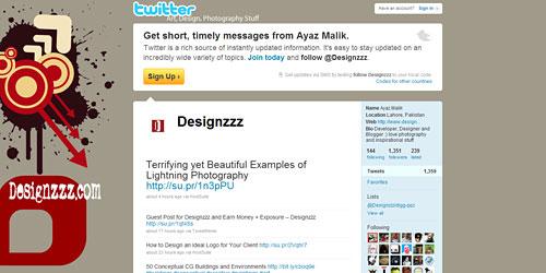Перейти на @Designzzz