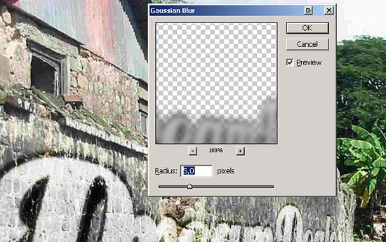 Создаем в фотошопе надпись в стиле граффити на уличной стене