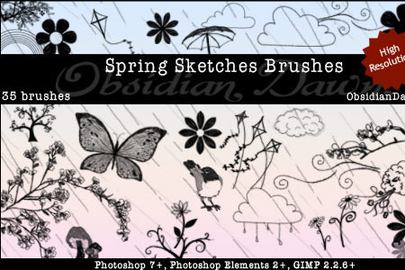 Скачать Spring Sketches Brushes