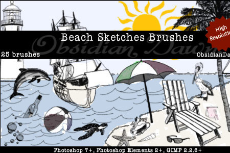 Скачать Beach Sketches Brushes