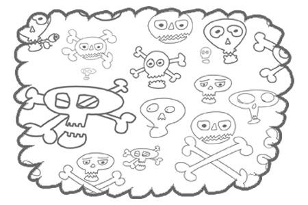Скачать Skulls scribbles