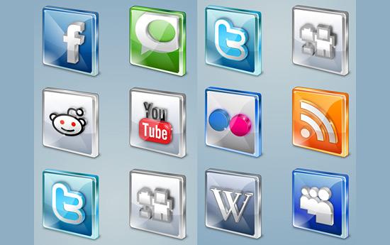 Скачать Free Social Icons
