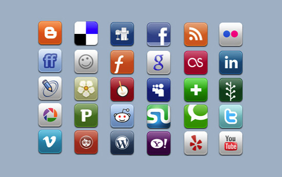 Скачать Aquaticus Social Icons