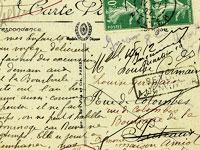 Скачать текстуры с изображением рукописного текста на почтовых открытках