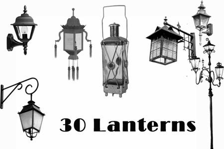 Скачать Old lanterns Brush Set