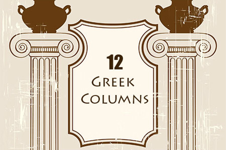 Скачать Greek Columns PS Brushes