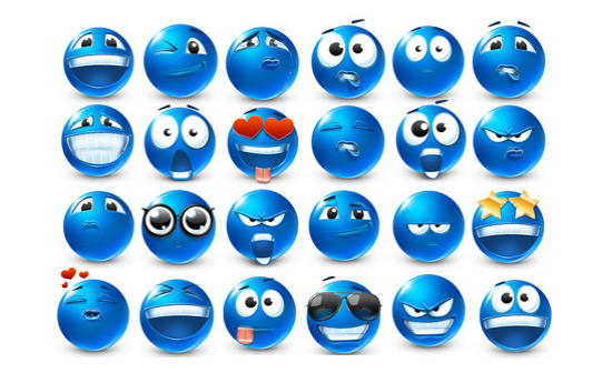 Скачать Emoticons 40 Smilies Icons