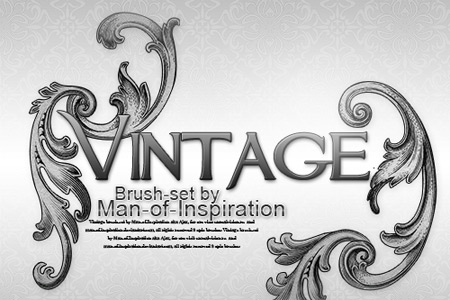 Скачать Vintage brush set