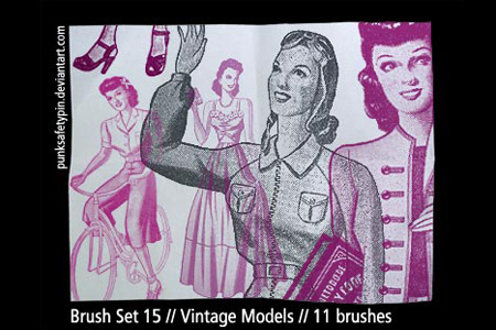 Скачать Brush Set 15 Vintage Models