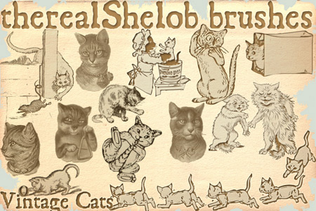 Скачать my brushes Vintage Cats