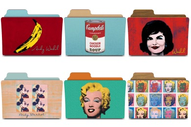 Скачать Warhol Folders Icons By Rebelheart