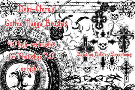 Скачать Gothic Manga Tones
