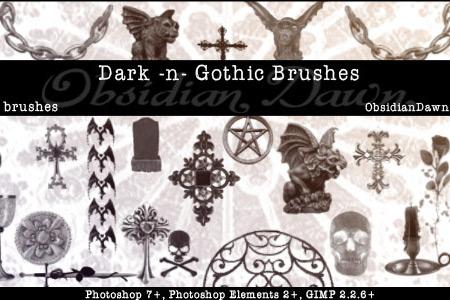 Скачать Dark N Gothic PS Brushes
