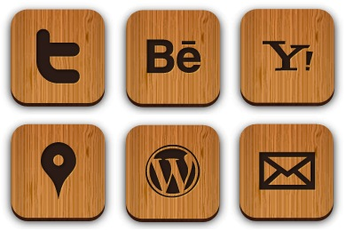 Скачать Wooden Social Icons By Creativenerds
