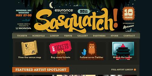 Перейти на Sasquatch Festival
