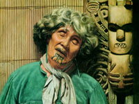 Новозеландские аборигены маори на картинах художника Чарльза Голди