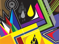 Геометрия цвета и симфония ярких красок от дизайнера Matt W. Moore
