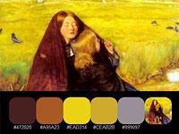 20 готовых цветовых палитр с романтически-воздушных картин Джона Миллеса