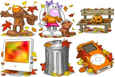 Скачать I Love Autumn Icons