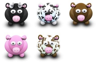 Скачать We Love Cows Icons