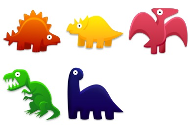 Скачать Dinosaurs Toys Icons