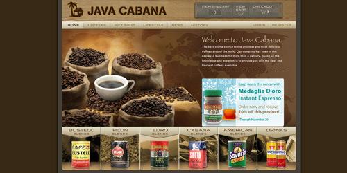 Перейти на Java Cabana
