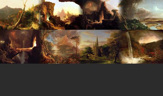 Создаем в фотошопе Твиттер фон из работ художника Томаса Коула